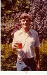 The author with beer, 1979. Photo by Mark Osborn.