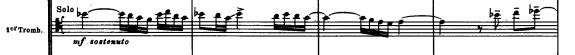 "Beginning of trombone solo in Ravel's ""Bolero."""
