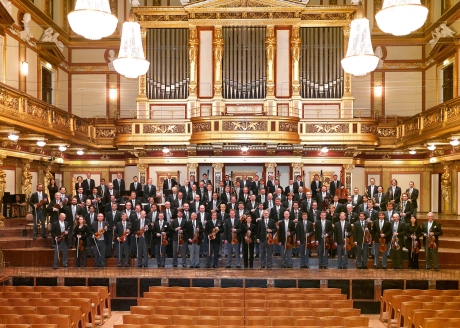 The Vienna Philharmonic in the Musikverein in Vienna. Credit:Richard Schuster