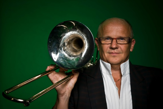 Trombonist Christian Lindberg is shown. Photo: Mats Bäcker
