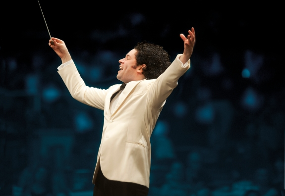 Gustravo Dudamel conducts at the Hollywood Bowl in 2014. Los Angeles Philharmonic Association